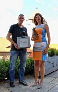 Ludoki-Trainerin Sylvia Pietzko mit Udo Sturm