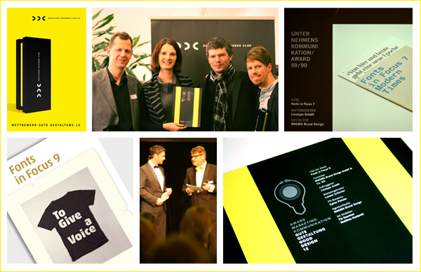 Zusammen mit Linotype und Magma Brand Design habe ich Preise des Deutschen Designer Clubs gewonnen.