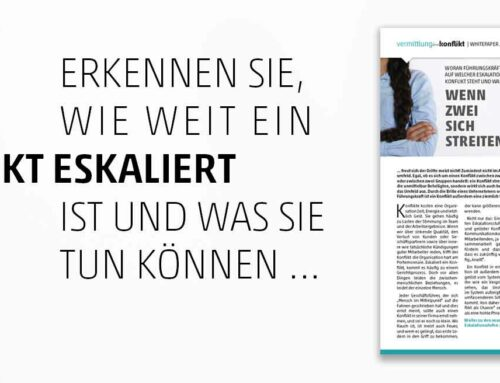 Tag der Mediation: Whitepaper Eskalationsstufen nach Friedrich Glasl